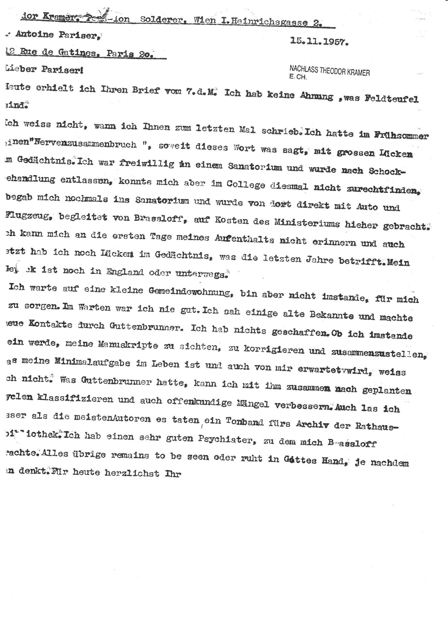 Theodor Kramer Gesellschaft Herbert Exenberger Archiv Dr Anton
