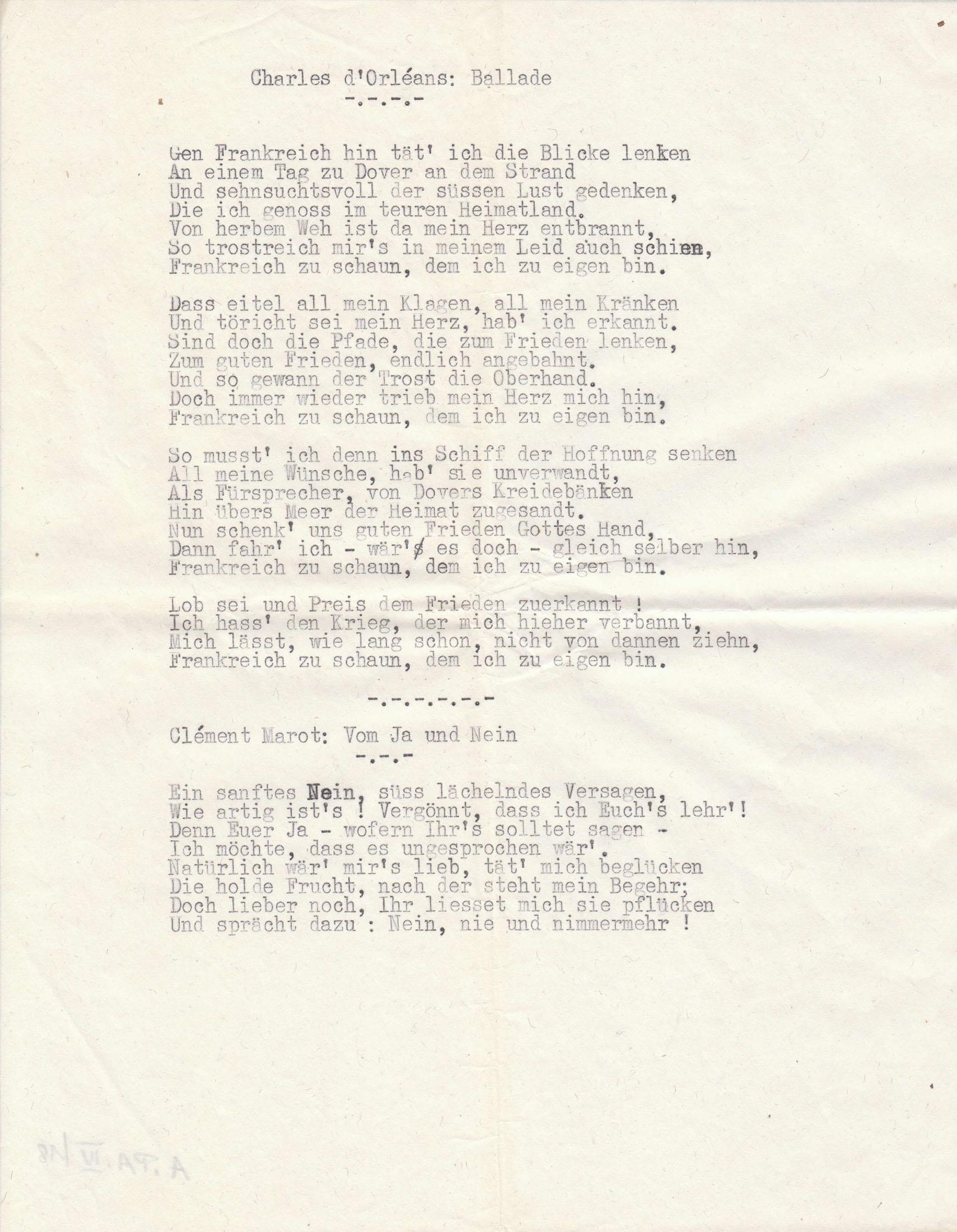 Rainer maria rilke gedichte paris